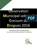 Observatori Municipal Sobre El Consum de Drogues de Granollers