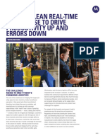 Create a Lean Real-Time Warehouse to Drive Productivity Up and Errors Down