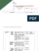 Planificare Farmacognozie Generala Farmacisti