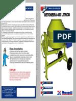 Manual Da Betoneira 400 Lts MENEGOTTI