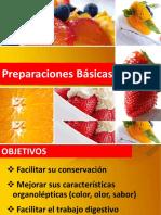 Preparaciones Básicas de los alimentos