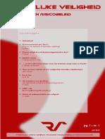 Ruimtelijke Veiligheid & Risicobeleid Nr. 1 (Jrg-1)