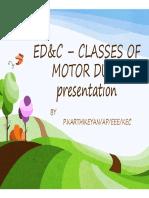 Classes of Motor Duty