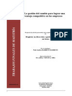 Paper Gestión Del Cambio Para Lograr Una Ventaja Competitiva en Las Empresas