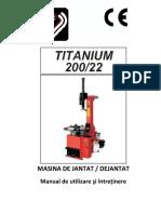 Manual Werther Titanium 200-22