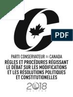 Congrès conservateur 2018 - règles et procédures