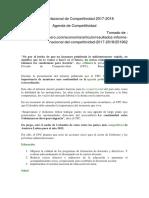 Informe Nacional de Competitividad 2017