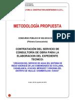 METODOLOGIA PROPUESTA PARA EXP TEC. RIEGO