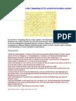Scrisoarea lui Neacșu din Câmpulung (1521)- primul text în limba română.doc