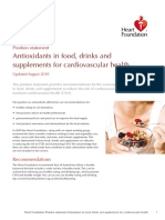 Antioxidants Position Statement