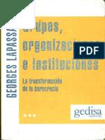 u1 Lapassade Georges Grupos Organizaciones e Instituciones