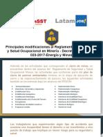Manual 2-2 Principales modificaciones al Reglamento de Seguridad y Salud Ocupacional en Minería - Decreto Supremo N° 023-2017-Energía y Minas