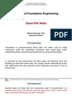 Lec 9 - Sheet-Pile Walls
