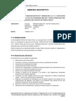 MEMORIA DESCRIPTIVA DE PISTAS Y VEREDAS DE A.P.V. SANTA ROSA.docx