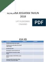 Rencana Kegiatan Tahun 2018