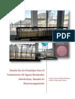 Diseño de Un Prototipo Para El Tratamiento de Aguas Residuales Domesticos Electrocoagulacion
