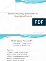 Productivity in EPC