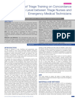 Effect of Triage Training on Concordance of Triage Level between Triage Nurses and Emergency Medical Technicians.pdf