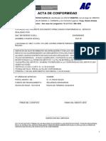 Acta de Conformidad - p.s. Daniel a. Carrion