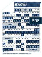 2019 Mariners Regular Season Schedule