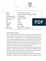 Plan de Estudios Finanzas y Politica Fiscal