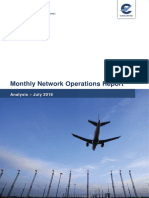 Informe de Eurocontrol sobre incidencias en aeropuertos en julio de 2018
