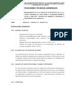 Especificaciones Tecnicas I.E Rene Guardian