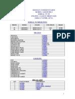 Daewoo Parts List