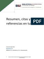 Resumen, Citas y Referencias Material Complementario