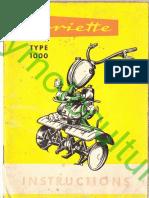 Agria Agriette 1000 Notice Fr