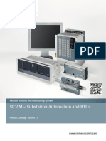 SICAM SAS and RTUs Product Catalog