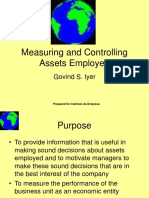 Measuring and Controlling Assets Employed