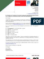 ILM Level 7 Diploma Enrolment April 2009