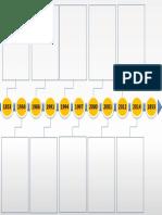 Arrow Timeline Diagram Powerpoint Template