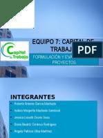Capital de Trabajo - Presentacion y Generalidades