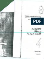 Ferreira Dos Santos_Carlos N_Movimentos Sociais Urbanos No Rio de Janeiro_Intro_Catumbi_Conclusão