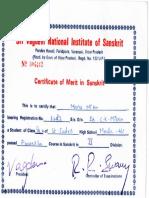 01. Sanskrit Certificate
