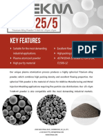 Tekna Titanium Alloy Powder Ti 6Al 4V 25 5