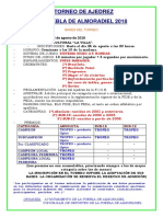 Bases Del II Torneo de Ajedrez La Puebla de Almoradiel 2018