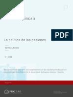 Spinoza- política de las pasiones
