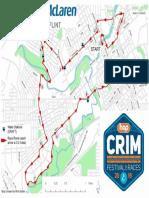 Crim 10 Mile Race Map