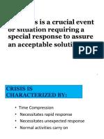 Intro to Crisis Management