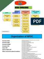 General Tasking of Agencies Involved