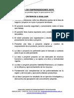 Criterios Para La Evaluacion de Las Ferias de Emprendedores