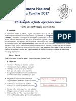 Noite de Santificação Das Famílias 2018 - Liturgia