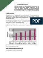Crecimiento de La Población de Guatemala