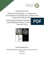 Tecnicas de Neuroimagen y Su Utilidad en El Conocimiento de La Etiologia de Los Trastornos Del Espectro Del Autismo (TEA)
