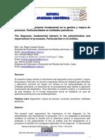El diagnóstico, elemento fundamental en la gestión y mejora de procesos
