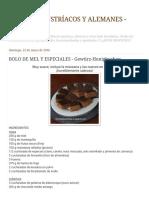 Doces Bolo de Mel e Especiarias - Gewürz-honigkuchen