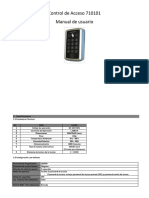 Manual Control de Acceso 710101